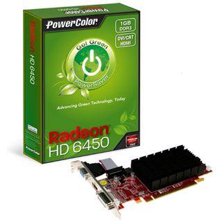 1GB PowerColor Radeon HD 6450 Go! Green Passiv PCIe 2.1 x16 (Retail)