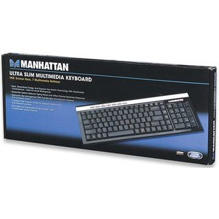 Manhattan multimedia USB ultraslim schwarz ret