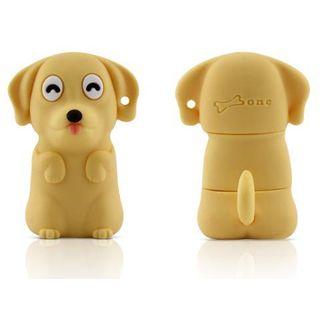 4 GB Bone Dog Driver gelb USB 2.0