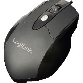 LogiLink Laser Gaming Mouse USB schwarz (kabelgebunden)