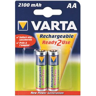 Varta® Akku (READY 2 USE) Ni-MH Mignon (AA) 1,2V 2100mA (56706), 4er Pack in Blister