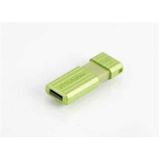 8 GB Verbatim Store `n` Go PinStripe gruen USB 2.0