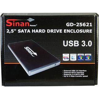 """SinanPower GD25621 2.5"""" (6,35cm) USB 3.0 schwarz"""