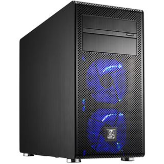 Lian Li PC-V600FX Window All Black Midi Tower ohne Netzteil