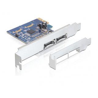 Delock PCI Express Card > 2x external eSATA 6 Gb/s Port