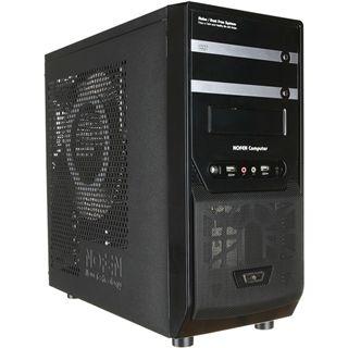 Nofan Set A40 Midi Tower 400 Watt schwarz/silber