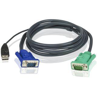 (€4,18*/1m) 5.00m ATEN Technology KVM Anschlusskabel VGA 15pol