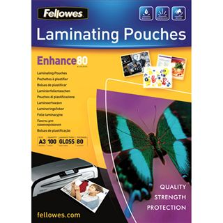 Glänzende Fellowes GmbH Laminierfolientaschen, A3, 303 x 426 mm,