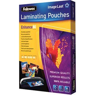 Fellowes glänzende Laminierfolientaschen, A5, 154 x 216 mm, 80µ