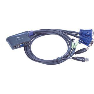 ATEN Technology CS62US 2-fach Kabel KVM-Switch