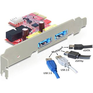 Delock 89288 2 Port PCIe 2.0 x1 retail
