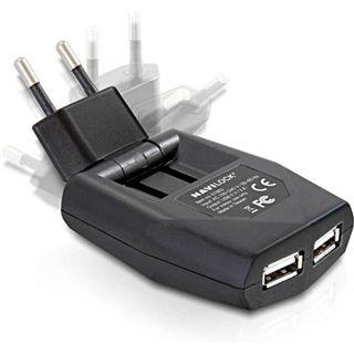 Navilock Netzteil Ultra flach > 2x USB *schwarz*