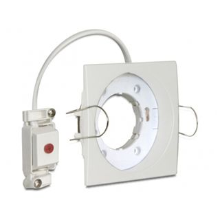 Delock Light GX53 Fassung zum Einbau eckig A weiß