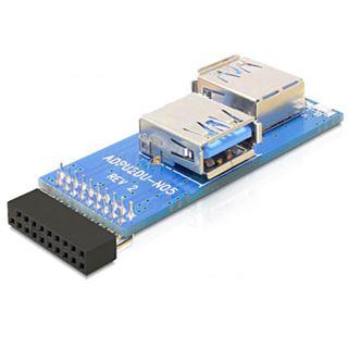 Delock Adap USB 3.0 Ph Bu>2x USB3.0-A Bu