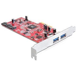 Delock PCI Expr Card 2x USB3.0 ext + 2x SATA 6Gbps