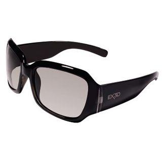 Hama EX3D Polfilterbrille, 5000 sportlich, Schwarz/Braun