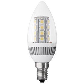 LED Kerzenlampe E14, Klarglas, mit LED Cluster, weiß mix, 220