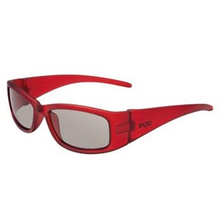 Hama EX3D 1010 Polfilterbrille, Kids, Rot