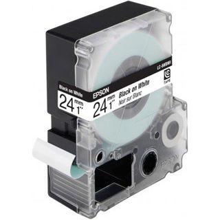 Epson Bandetiketten stand. schwarz auf weiß 24mm