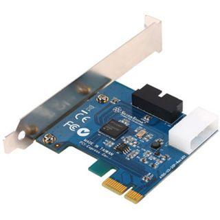 Silverstone SST-EC03 Internal Dual Port USB 3.0 Card - silver