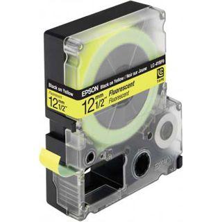 Epson LC-4YBF9 schwarz auf gelb Etikettenkassette (1 Rolle (1.2 cm x 9 m))