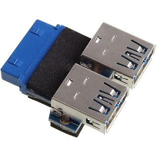 Xigmatek 2x USB 3.0 Adapterstecker für USB 3.0 19pol