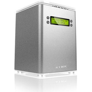 """ICY BOX IB-RD3264+USE2 3.5"""" (8,89cm) eSATA/FireWire 400/FireWire 800/USB 2.0 silber"""