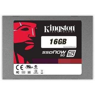 "16GB Kingston SSDNow S50 2.5"" (6.4cm) SATA 3Gb/s MLC asynchron (SS050S2/16G)"