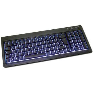 KeySonic KSK-6001 ULEX mit blauem Hintergrundlicht, USB, schwarz