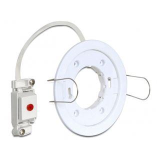 Delock LED-Fassung GX53 Typ D Einbau rund weiß, ® [46014]