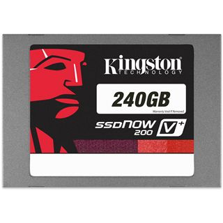 "240GB Kingston SSDNow V+ 200 Kit 2.5"" (6.4cm) SATA 6Gb/s MLC asynchron (SVP200S3B/240G)"