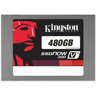 "480GB Kingston SSDNow V+ 200 2.5"" (6.4cm) SATA 6Gb/s MLC"