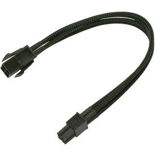 Nanoxia 30 cm schwarzes Verlängerungskabel für 4-Pin P4