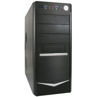LC-Power 7024B Midi Tower 420 Watt schwarz