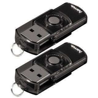 """16 GB Hama FlashPen """"Elatio"""" Doppelpack schwarz USB 2.0"""