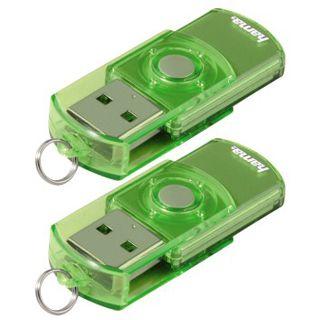 """4 GB Hama FlashPen """"Elatio"""" Doppelpack gruen USB 2.0"""