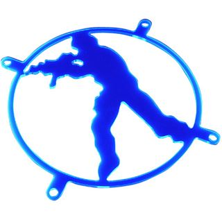 Bitspower 80mm ultrablau Skull Lüftergitter für Lüfter (BP-UVFG80-1-2)