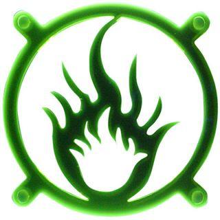 Bitspower Fire UV grün Lüftergitter für 80mm