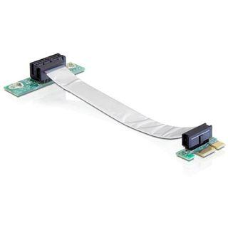 Delock PCIe x1 flexibel links gerichtet Riser Card für PCIe x1
