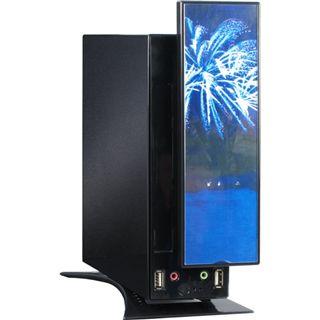 Inter-Tech X7 Firework ITX Tower 60 Watt schwarz/blau