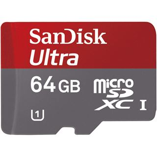 64 GB SanDisk Ultra microSDXC UHS-I Retail inkl. Adapter