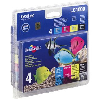 Brother Tinte LC1000 Value Pack LC-1000VALBPDR schwarz, cyan,