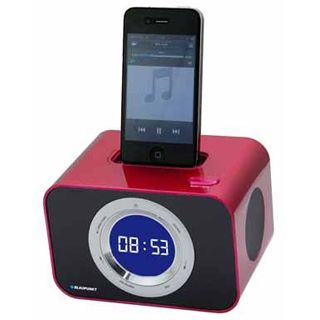 Blaupunkt iClock10RED Uhrenradio mit iPod Dock rot
