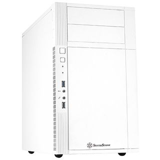Silverstone Precision PS07 Mini Tower ohne Netzteil weiss