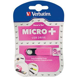 8 GB Verbatim Drive pink USB 2.0