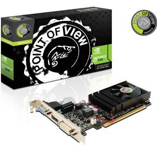 1GB Point of View GeForce GT 630 Low Profile Aktiv PCIe 2.0 x16 (Retail)