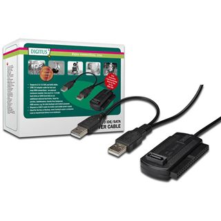 """Digitus USB 2.0 auf IDE/SATA Adapter für 2.5"""" und 3.5"""" Festplatten (DA-70148-3)"""