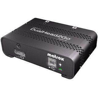 Matrox DualHead2Go DisplayPort Grafikkonverter für 2x DVI (D2G-DP2D-IF)
