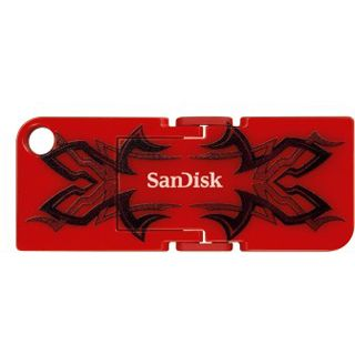 32 GB SanDisk Cruzer Pop Tribal schwarz USB 2.0