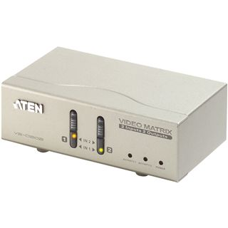 ATEN Technology VS0202 2-fach VGA-A/V-Matrix Switch